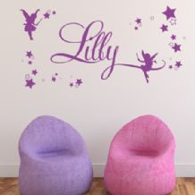 Personalised Children's Fairy Name Wall Sticker Decal